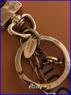 100% Auth Louis Vuitton Twist Bag Charm Key Chain Black And Gold