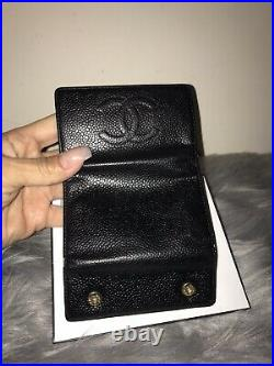 100% Authentic Chanel Black Logo Six Key Ring Keychain With Shopping Bag