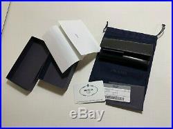 100% Authentic PRADA Saffiano Black Leather 6 Ring Key Case