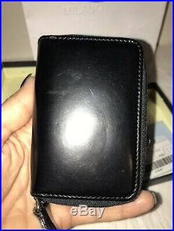 100% Authentic Prada Black Leather Small 6 Key Ring Holder Wallet Italy