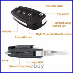1080P HD Car FOB Covert Camera with Audio and Night Vision on a Keychain