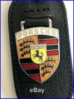 1960 -1973 Porsche CRAFTSMAN CUD 911 912 356 Leather Key Fob Chain Original