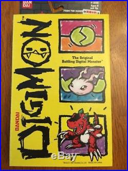 1997 Bandai DigiMon Tamagotchi Keychain BLACK ORIGINAL RARE MIB Never Opened