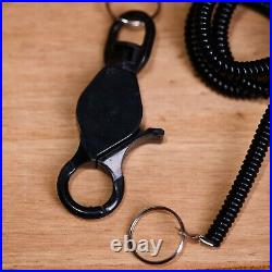 2 x Pieces Phone Elastic Spiral Spring Coil Belt Chain Lanyard Key Ring