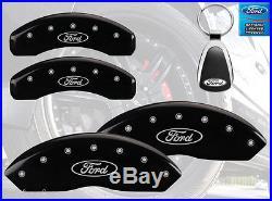 2005-2008 Ford F-150 Logo Black Brake Caliper Covers Front Rear & Keychain