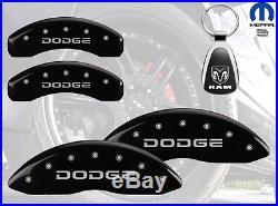 2006-2010 Dodge Ram 1500 Logo Black Brake Caliper Covers Front Rear & Keychain