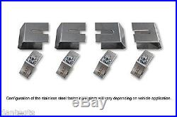 2006-2011 Cadillac DTS Logo Black Brake Caliper Covers Front Rear & Keychain