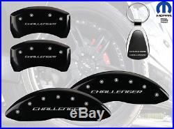 2009-2010 Dodge Challenger Logo Black Brake Caliper Covers Front Rear & Keychain