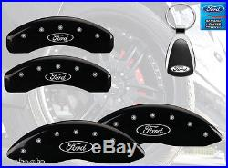 2010-2015 Ford Taurus Logo Black Brake Caliper Covers Front Rear & Keychain