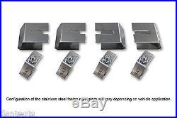 2011-2012 for Infiniti QX56 Logo Black Brake Caliper Cover Front Rear & Keychain
