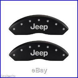 2014-2014 Jeep Wrangler Logo Black Brake Caliper Covers Front Rear & Keychain