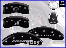 2014-2015 Honda Accord Logo Black Brake Caliper Covers Front Rear & Keychain