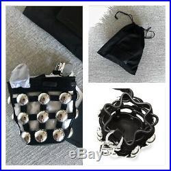 $345 NWT Alexander Wang Roxy Bag Charm Leather Key Chain in Black