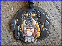 4712edfc1 $370 NEW Givenchy Rottweiler Leather Bag Charm Tag Black Multi Bag Accessory
