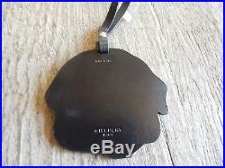 $370 NEW Givenchy Rottweiler Leather Bag Charm Tag Black Multi Bag Accessory
