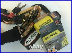 3x Kryptonite New York Fahgettaboudit Bike Chain 1415 and Disc Lock 5' (150cm)