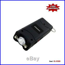 9.8 Million Volt Stun Gun Rechargeable with Key Chain and LED Light Black