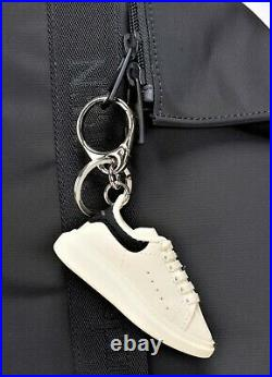 ALEXANDER McQUEEN'Oversize Sneaker' Faux Leather Key Ring / Chain FoB Charm NIB