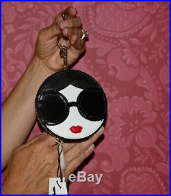 ALICE + OLIVIA STACE FACE Coin Purse KEY CHAIN BAG CHARM NWTGS TOO CUTE