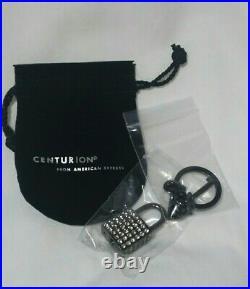 AMERICAN EXPRESS AMEX Centurion Black Card Padlock Crystal Key Ring Key Chain