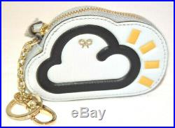 ANYA HINDMARCH Weather Leather Key Chain Zipper Coin Purse Pouch