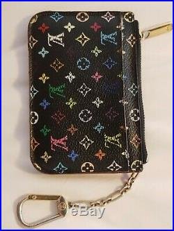 AUTHENTIC Louis Vuitton Monogram Multicolor coin purse and keychain