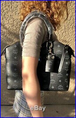 AUTHENTIC MCM Black Bag + Dust Bag + keychain