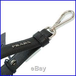 AUTHENTIC PRADA 2PP68T Key Holder Black Leather 0212