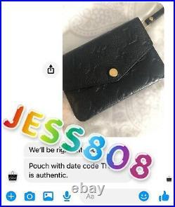 AUTHENTICLouis Vuitton Empreinte Key Pouch Cles Noir/Black US SELLER