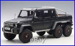 AUTOart 76302 1/18 Mercedes Benz G63 AMG Matte Black 6x6 Diecast Model +Keychain