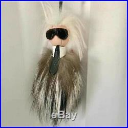 Accessories Fendi Minikarito Fur Charm Key Chain Ring Karl Lagerfeld Black Pink