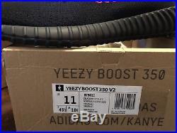 Adidas Yeezy Boost 350 V2 Black Red BRED Sz 11 Brand New With Receipt & Keychain