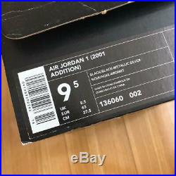 Air Jordan 1 2001 Model Sneaker Black US9.5 with box and keychain