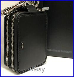 Alexander Wang double compartment small leather wallet keychain