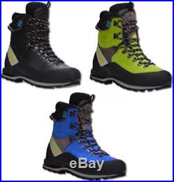 Arbortec Scafell Lite Forestry Chainsaw Protective Boots Lime / Blue / Black