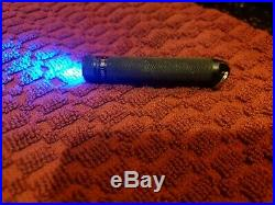 Arc AAA Flashlight Blue LED Black Anodized, Lug Body Key Chain