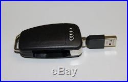 Audi USB Stick 8GB Black Memory Adapter Keychain Foldable Key Genuine New