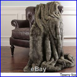 Aurora Home Faux Fur Throw Blankets by Wild Mannered with Faux Fur Key Chain