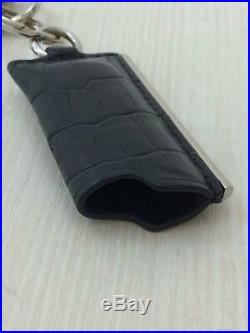 Auth ALEXANDER WANG LIGHTER CASE CHARM Key Chain Leather Black used