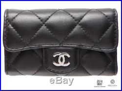 Auth CHANEL Key Case Matellase Leather A31503 2016 NEW