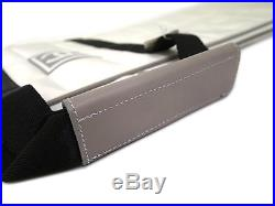 Auth CHANEL Short Ski Case Sport/Snow Line White/Black (BF113189)