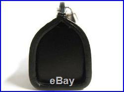 Auth LOUIS VUITTON BAG CHARM M99207 Porte Cles Speedy Handbag Black 2005 Limited