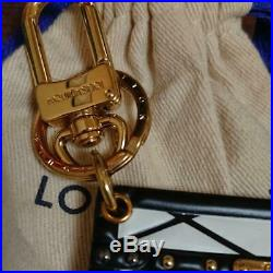 Auth LOUIS VUITTON Bag Charm Petite Malle Bag White Black M00004 #1361Q