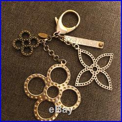 Auth LOUIS VUITTON Bag Charm strap Bijou Suck Tappage gold Silver Black M65090