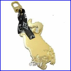 Auth LOUIS VUITTON Catogram Flying Cat Key Holder and Bag Charm MP2284 /045516