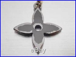 Auth Louis Vuitton Bag Charm Kaleido V Key Holder Black/Silver/Goldtone e43840