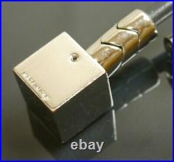 Auth Louis Vuitton Black Cube Ball Bag Charm Key Ring Key Chain