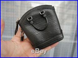 Auth Louis Vuitton Epi Mini Rock It M60142 Black Epi charm Key ring #3119P