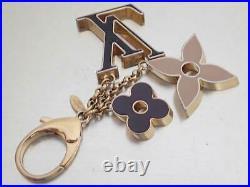 Auth Louis Vuitton Fleur De Monogram Bag Charm Key Ring M67119 e49728