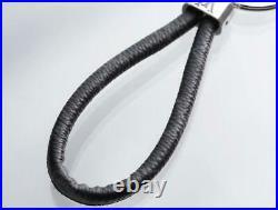Auth Louis Vuitton Monogram Eclipse LV HALO M68853 Bag Charm Key Ring Key Chain